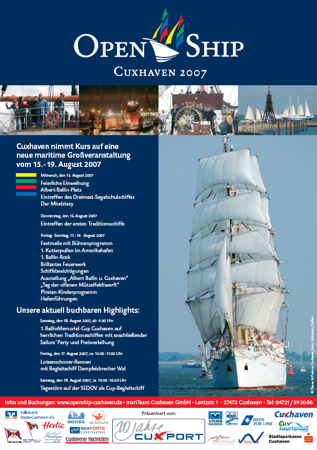 Open Ship Cuxhaven 2007 Plakat